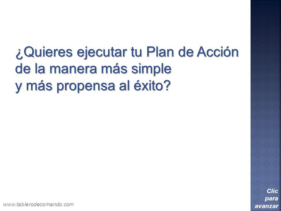 ¿Quieres ejecutar tu Plan de Acción de la manera más simple