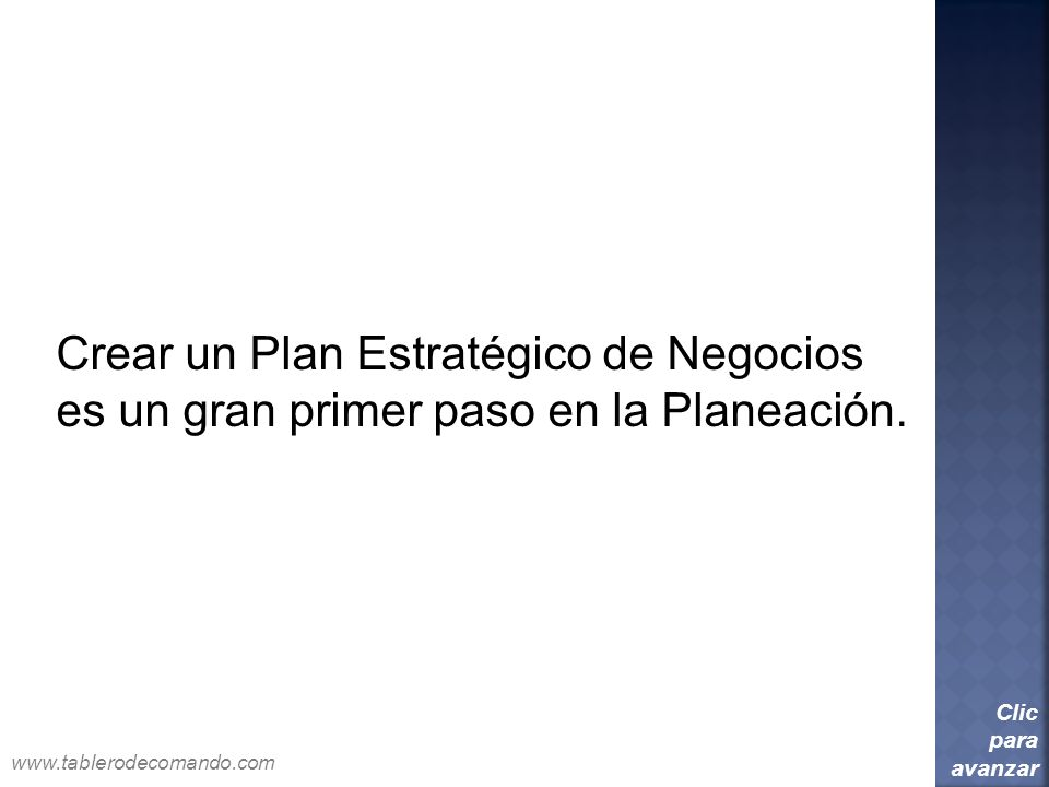 Crear un Plan Estratégico de Negocios