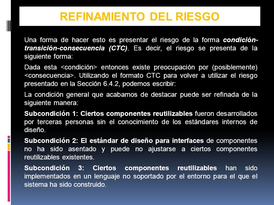 REFINAMIENTO DEL RIESGO