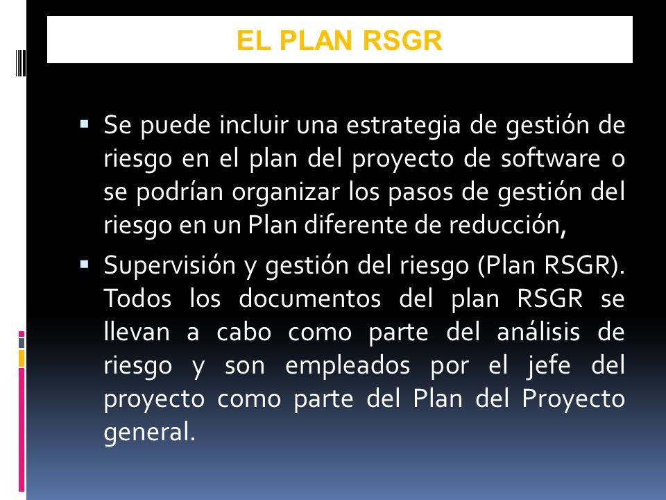 EL PLAN RSGR