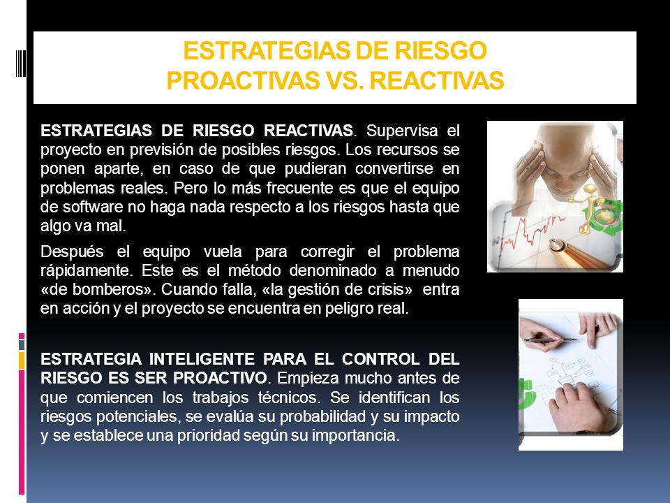 ESTRATEGIAS DE RIESGO PROACTIVAS VS. REACTIVAS