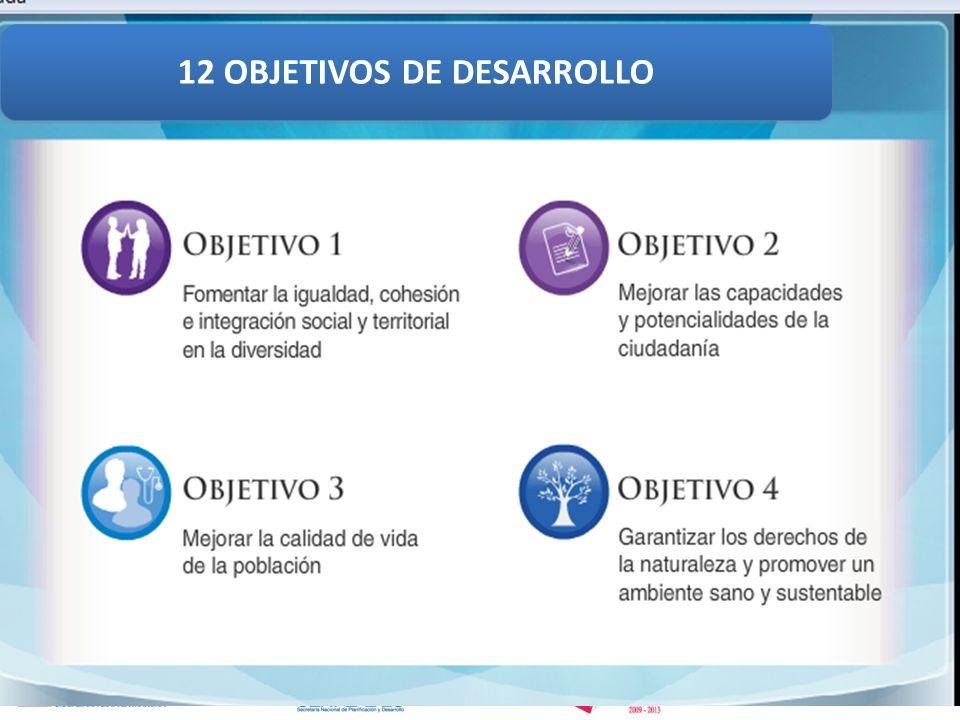 12 OBJETIVOS DE DESARROLLO