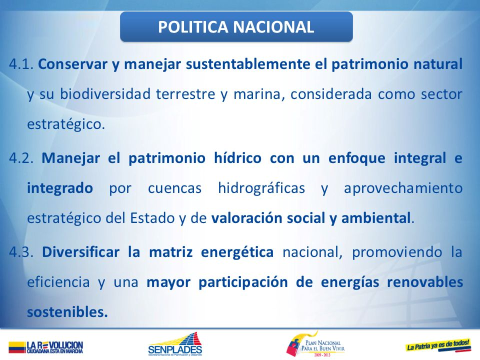 POLITICA NACIONAL