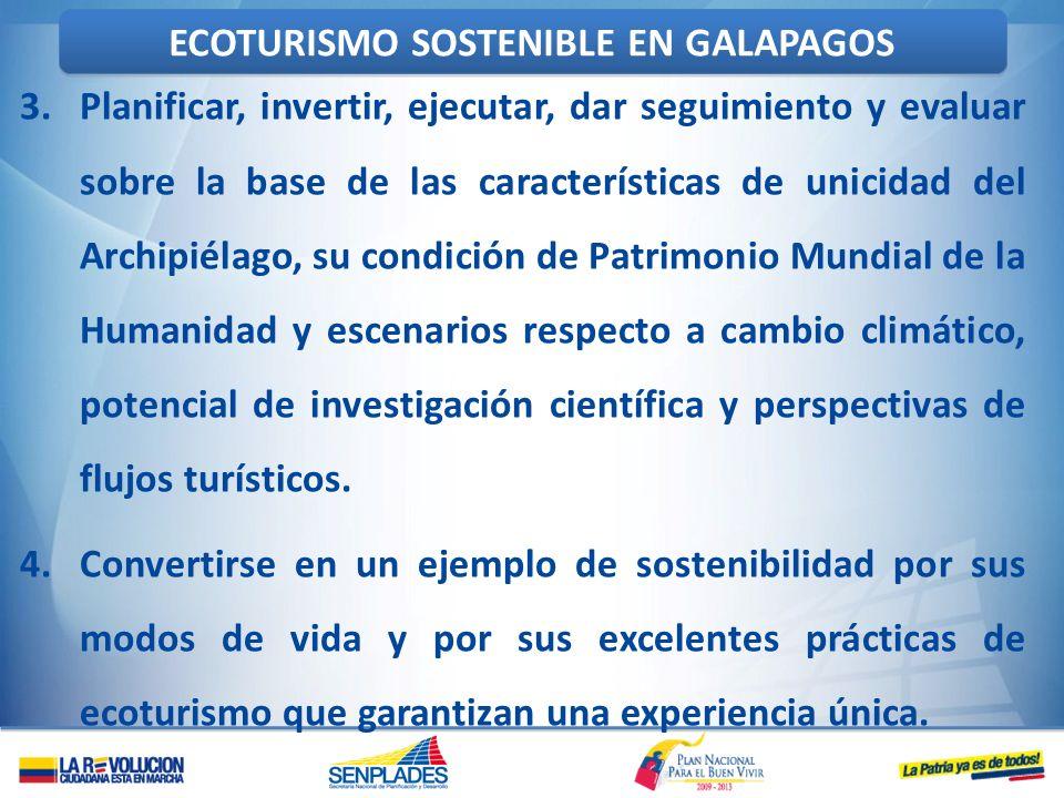 ECOTURISMO SOSTENIBLE EN GALAPAGOS