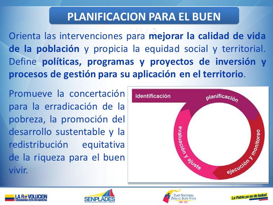 PLANIFICACION PARA EL BUEN VIVIR