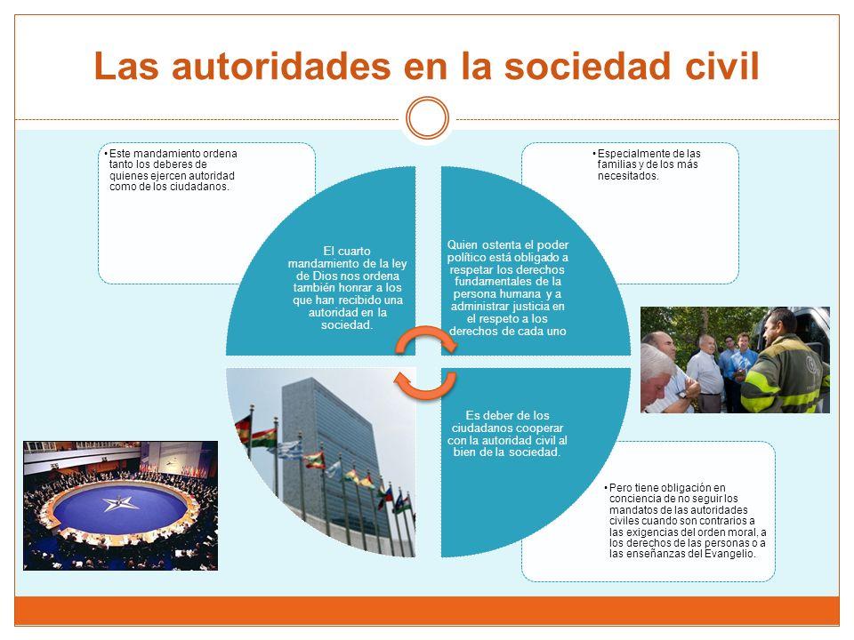 Las autoridades en la sociedad civil