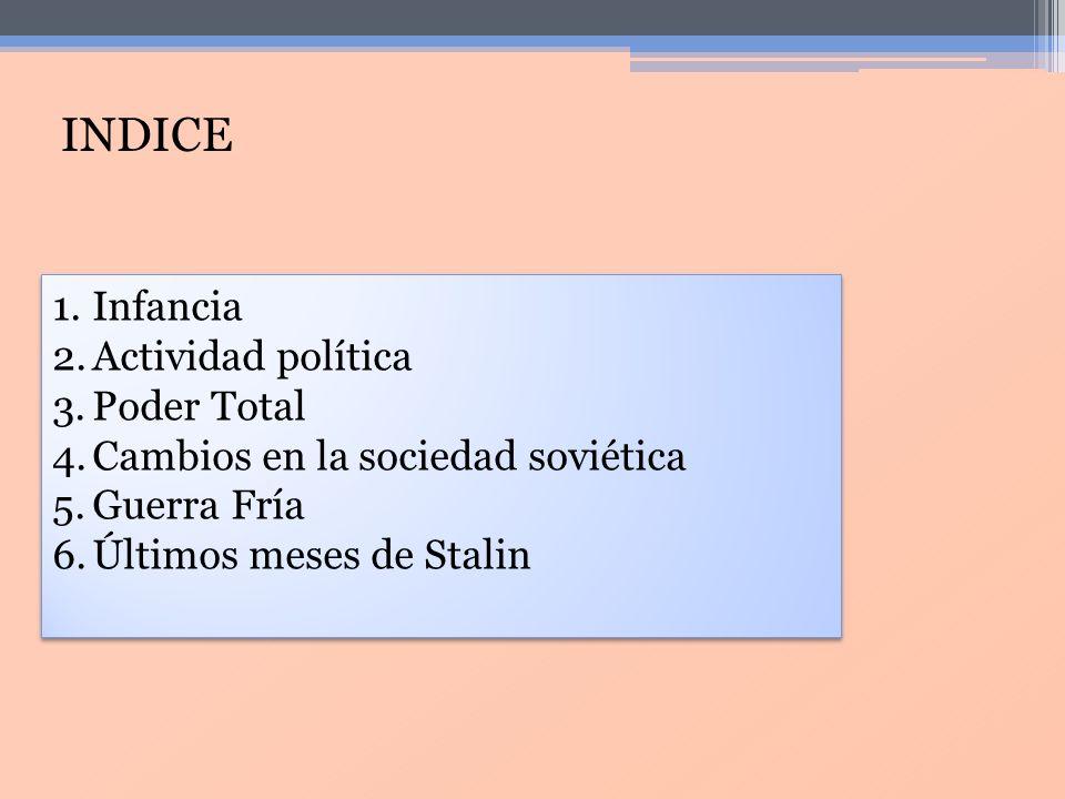 INDICE Infancia Actividad política Poder Total