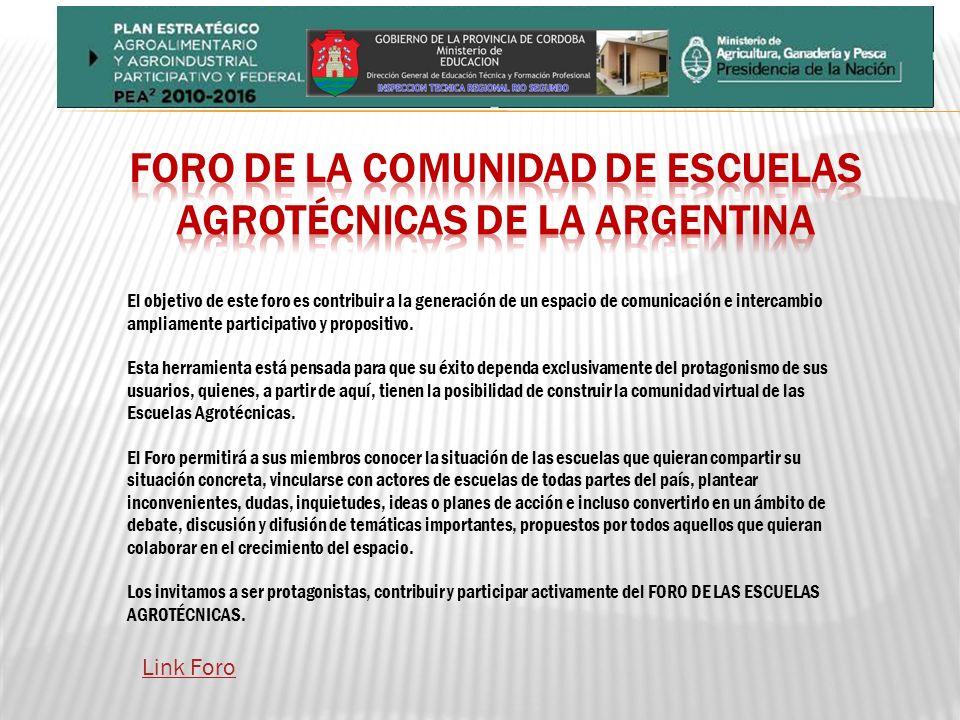 Foro de la Comunidad de Escuelas Agrotécnicas de la Argentina