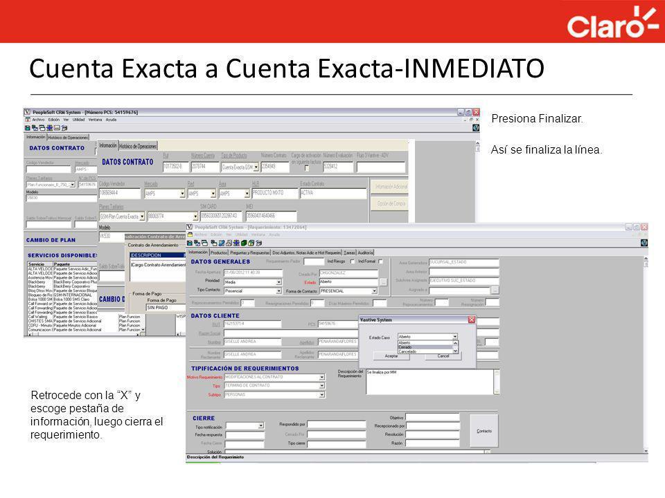 Cuenta Exacta a Cuenta Exacta-INMEDIATO