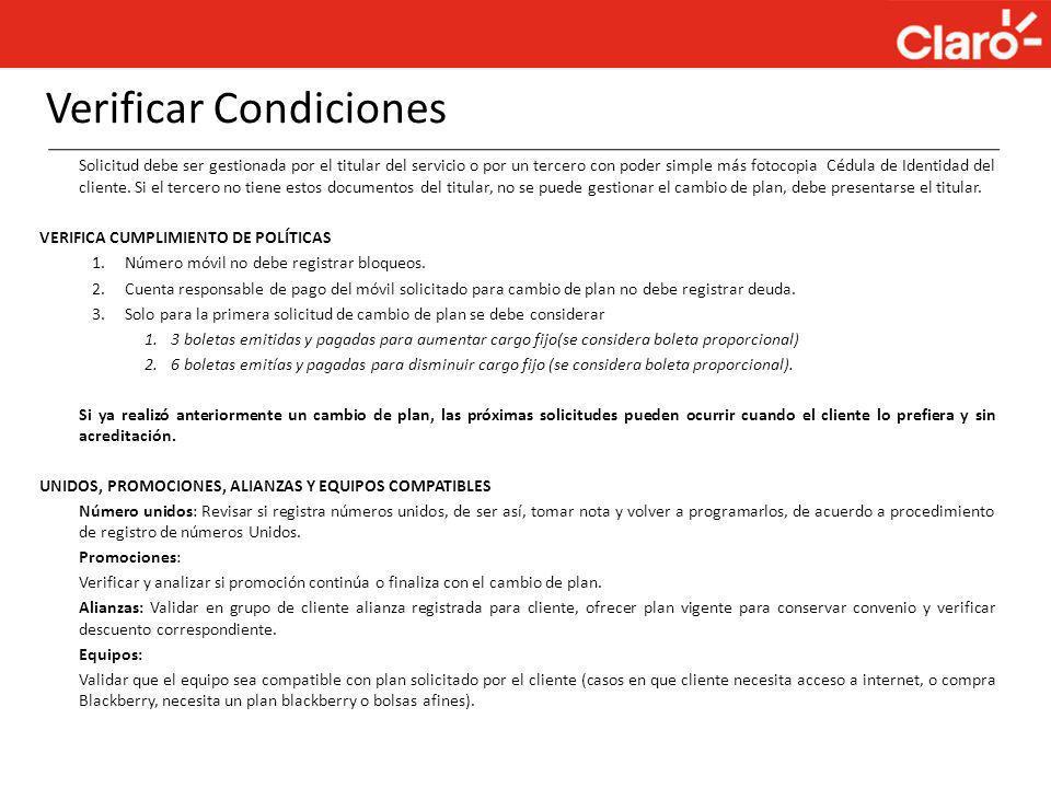 Verificar Condiciones