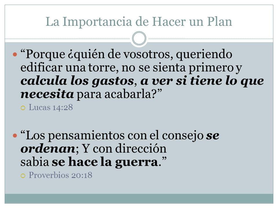 La Importancia de Hacer un Plan