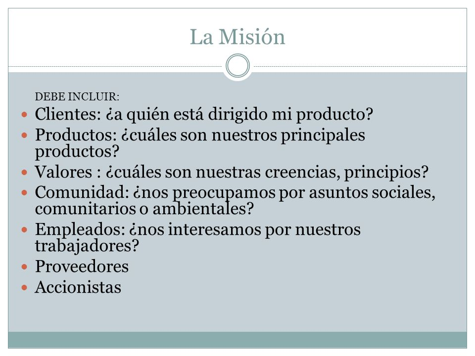 La Misión Clientes: ¿a quién está dirigido mi producto