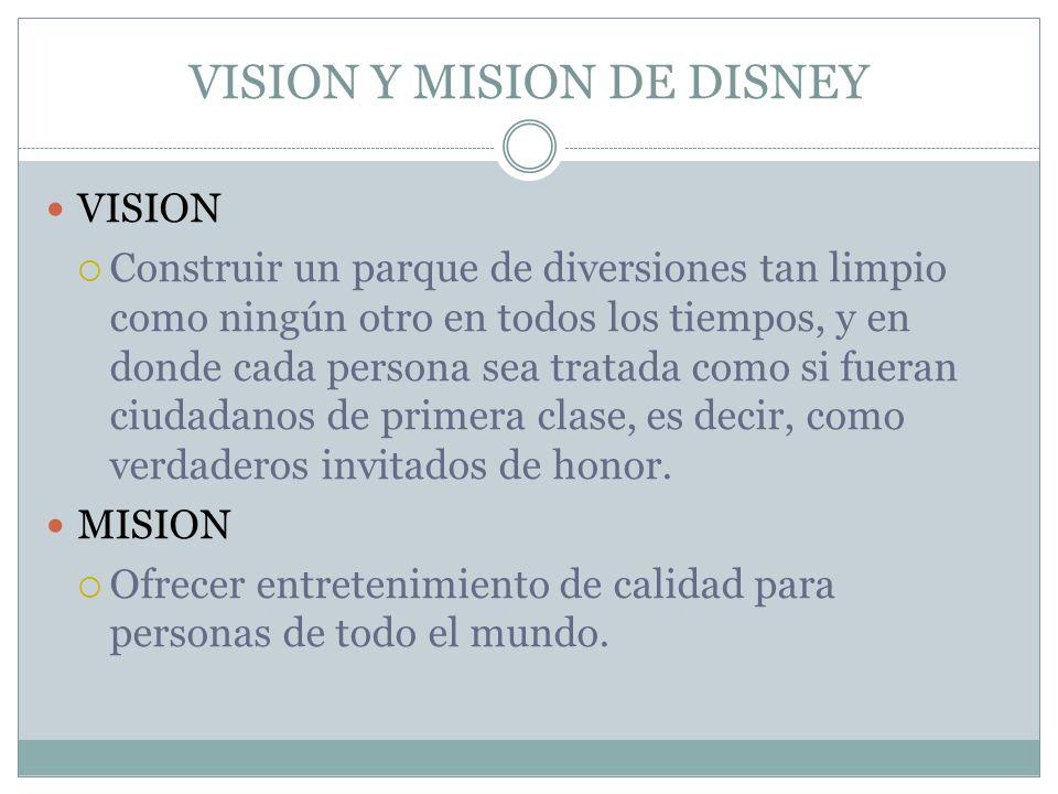 VISION Y MISION DE DISNEY