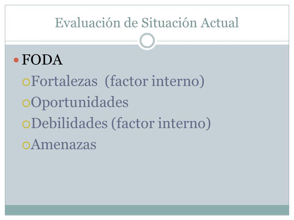 Evaluación de Situación Actual