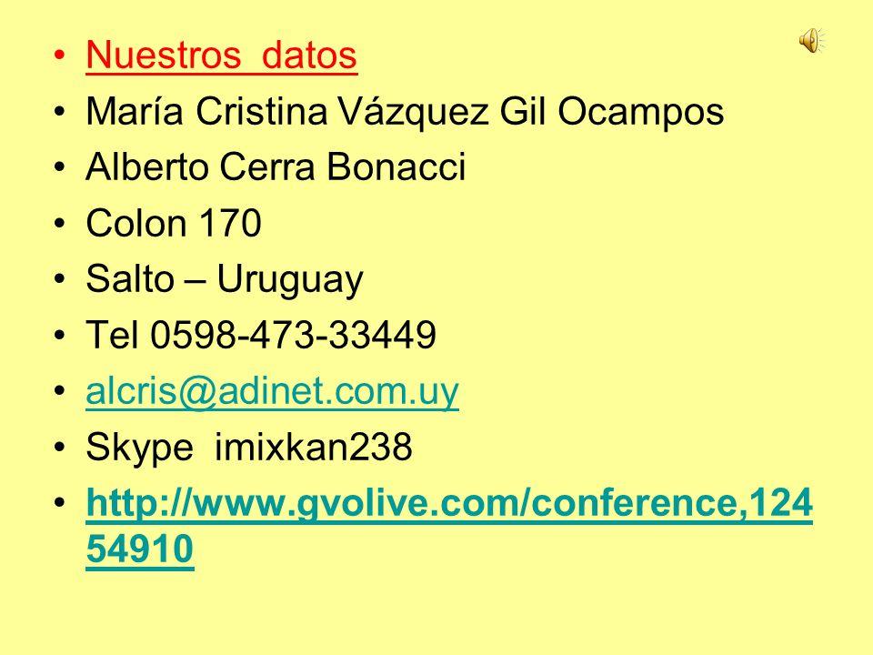 María Cristina Vázquez Gil Ocampos Alberto Cerra Bonacci Colon 170