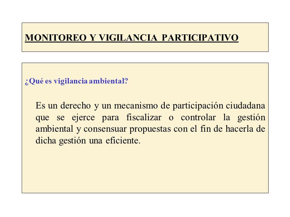 MONITOREO Y VIGILANCIA PARTICIPATIVO