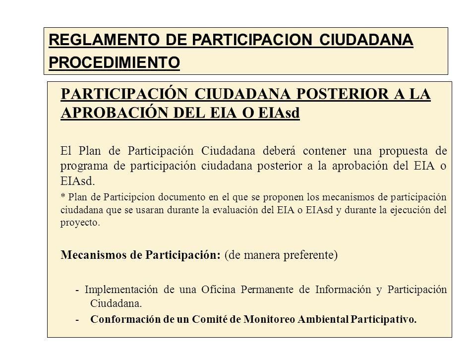 REGLAMENTO DE PARTICIPACION CIUDADANA PROCEDIMIENTO