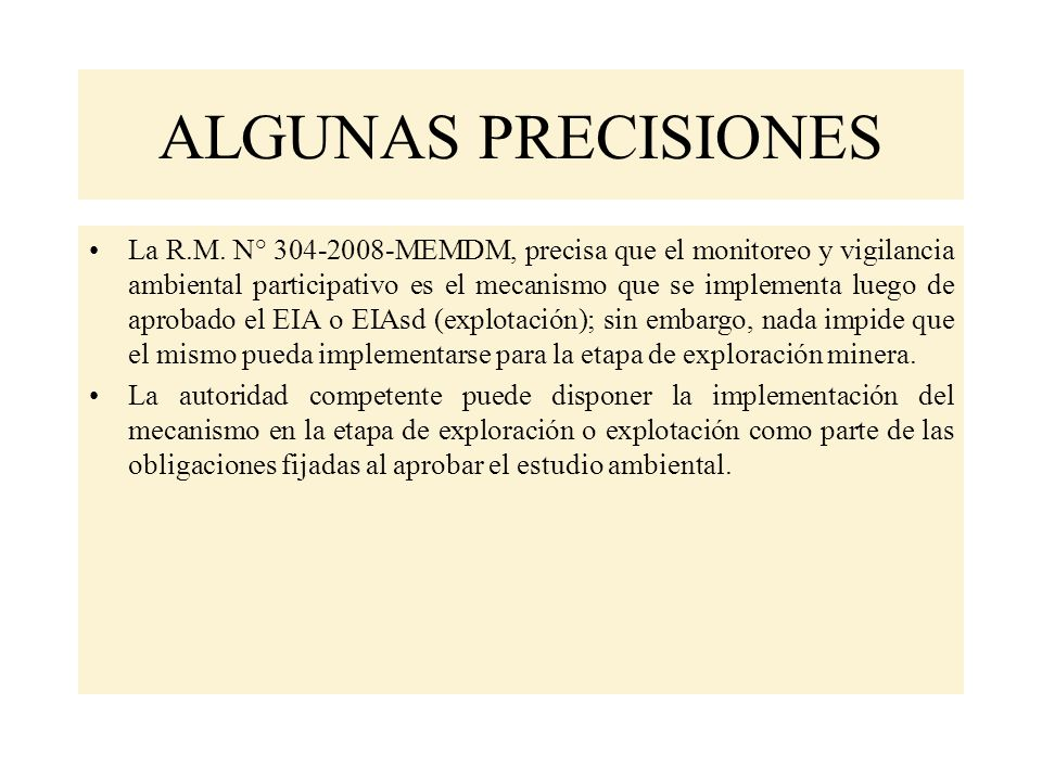 ALGUNAS PRECISIONES
