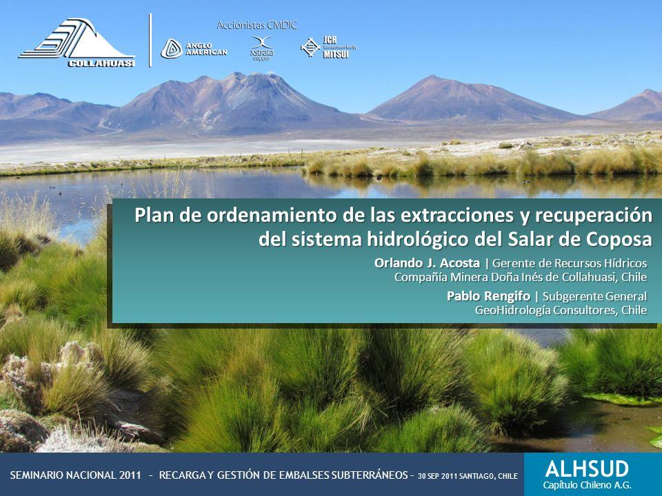 Plan de ordenamiento de las extracciones y recuperación del sistema hidrológico del Salar de Coposa