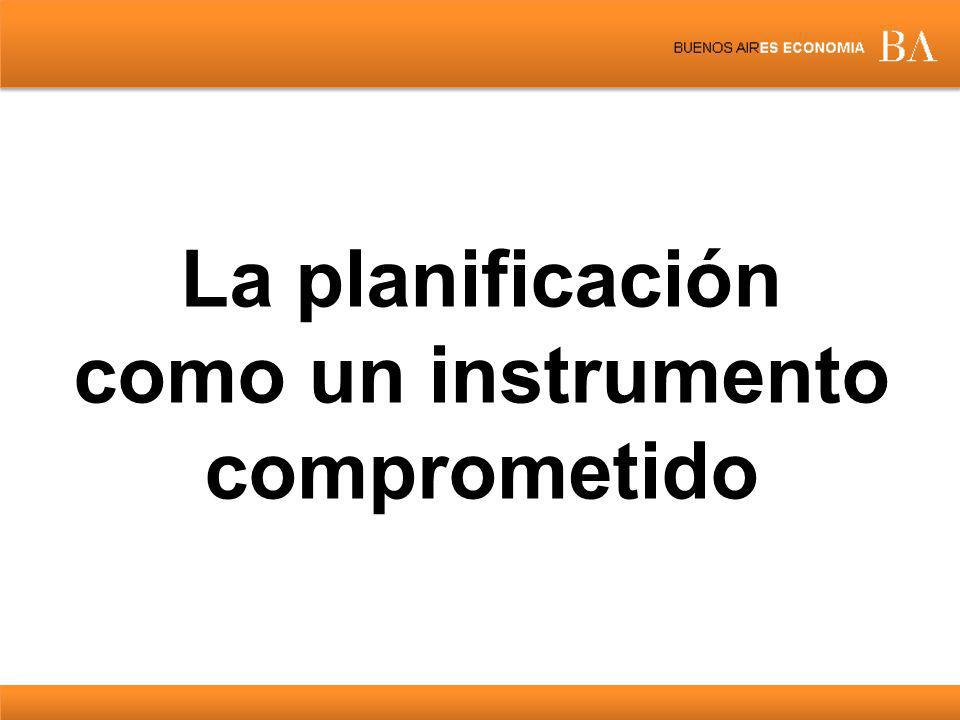 La planificación como un instrumento comprometido