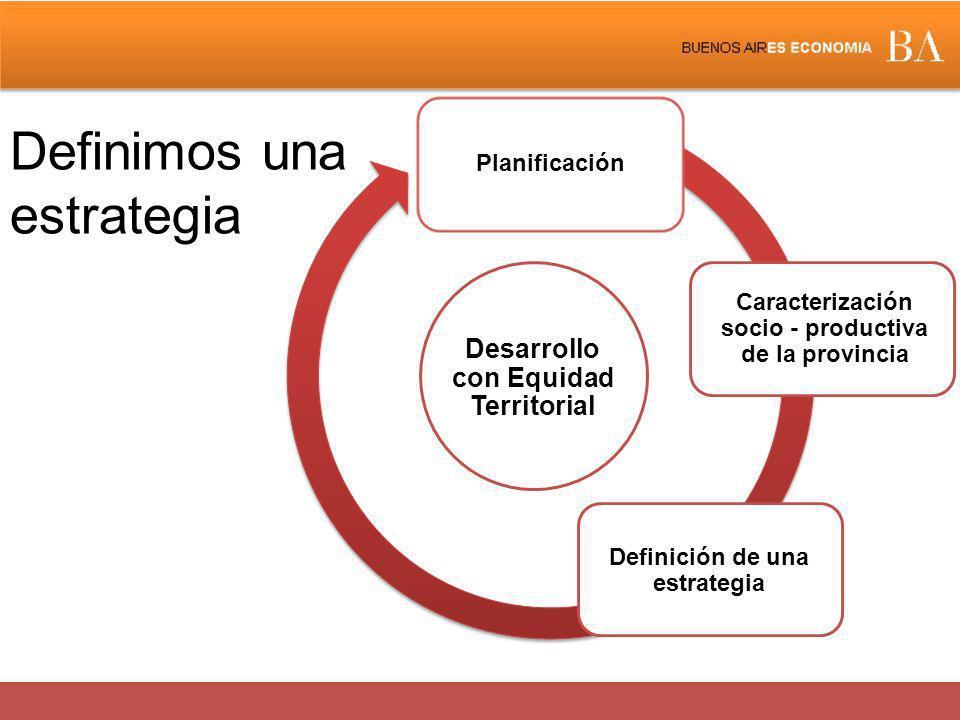 Definimos una estrategia Desarrollo con Equidad Territorial