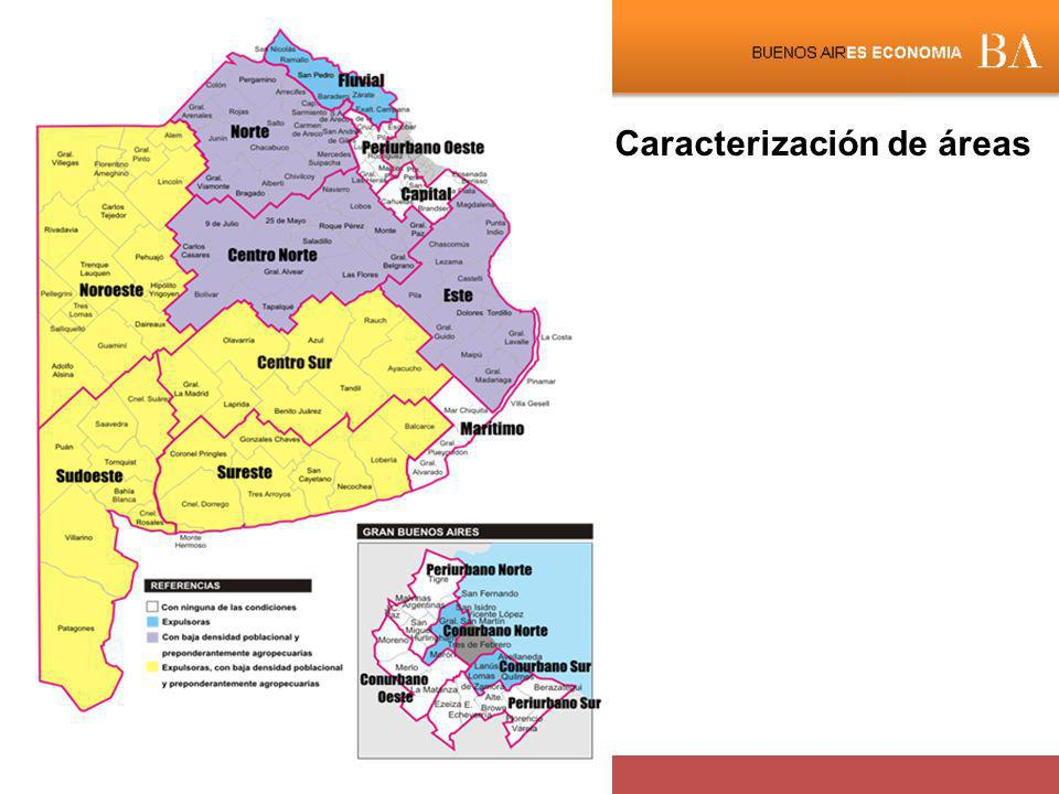 Caracterización de áreas