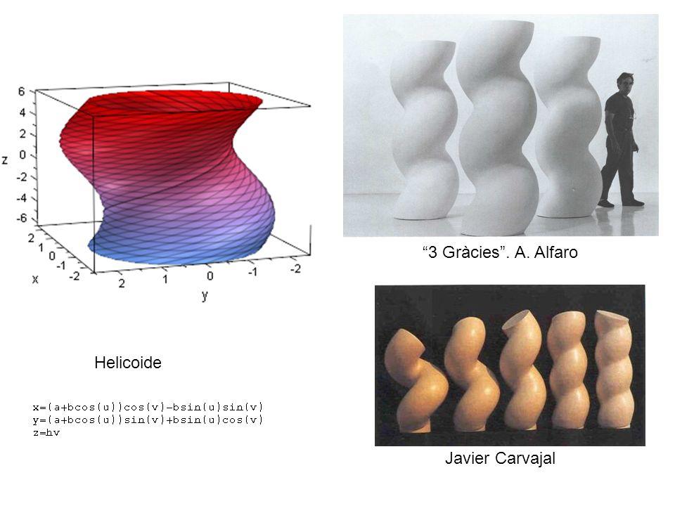 3 Gràcies . A. Alfaro Helicoide Javier Carvajal