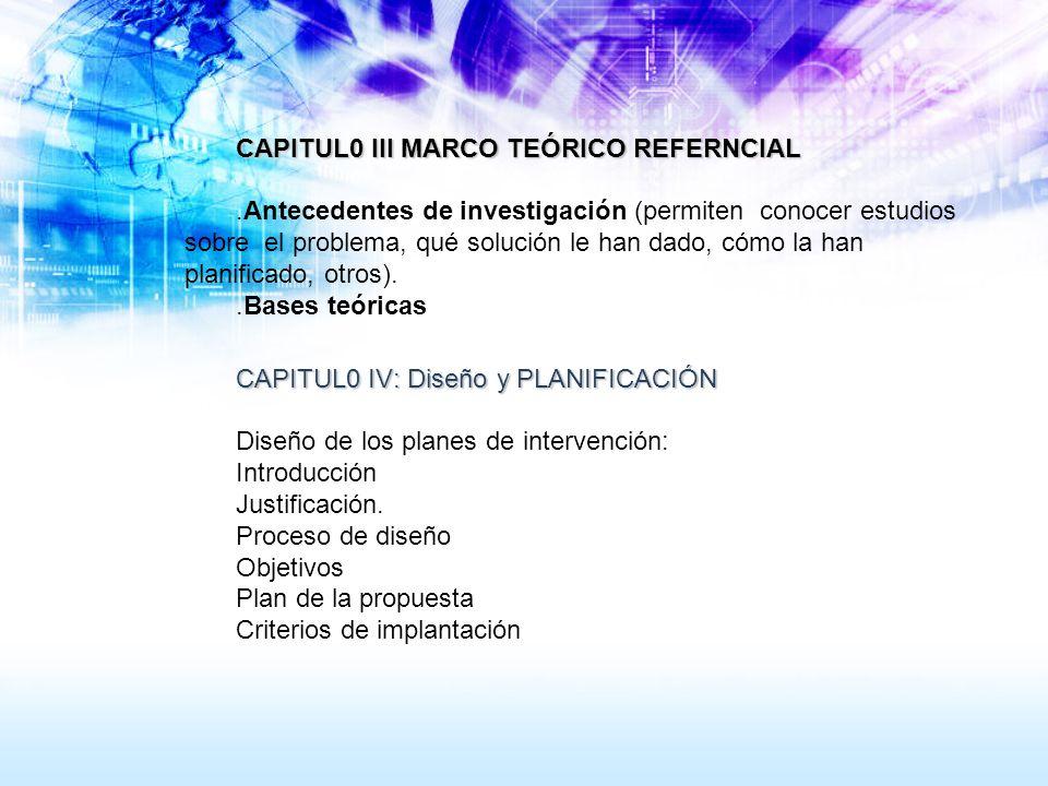 CAPITUL0 III MARCO TEÓRICO REFERNCIAL