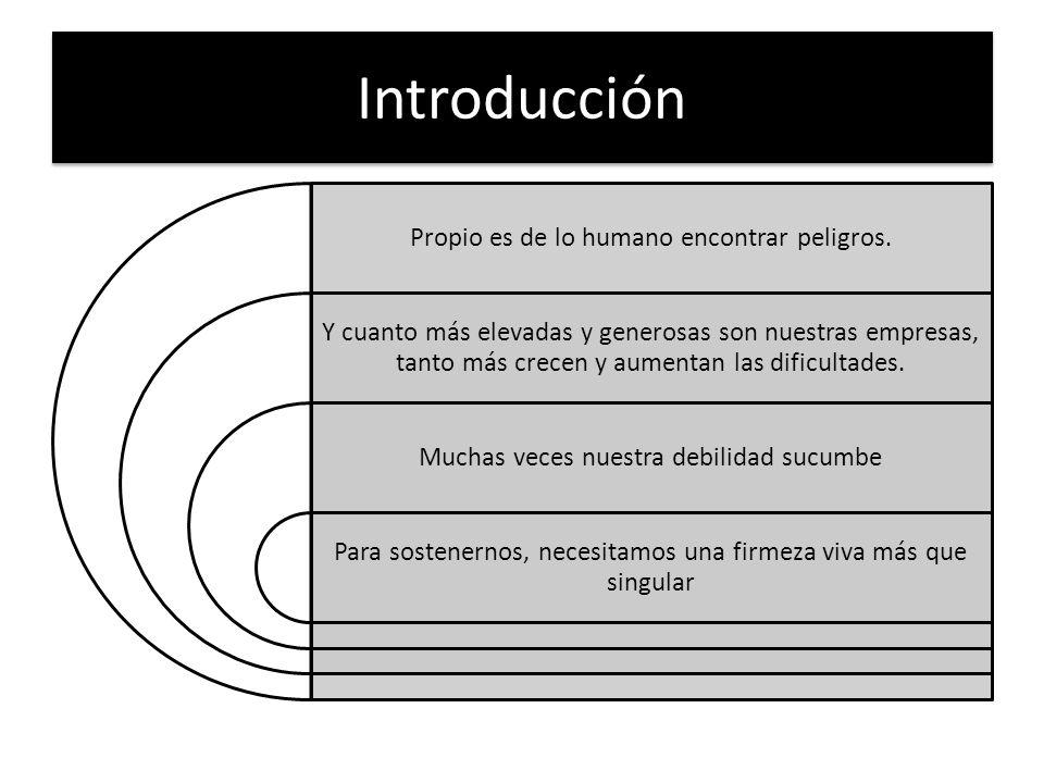 Introducción Propio es de lo humano encontrar peligros.