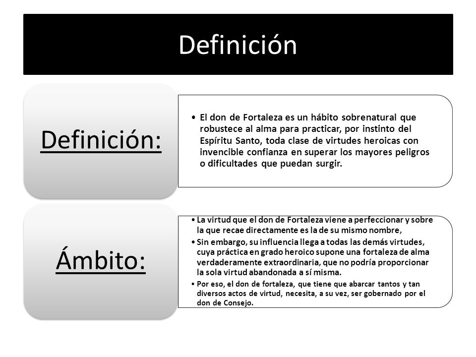 Definición Definición: