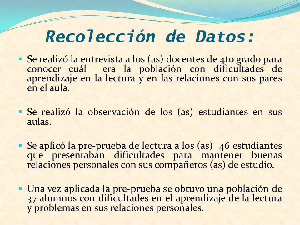 Recolección de Datos: