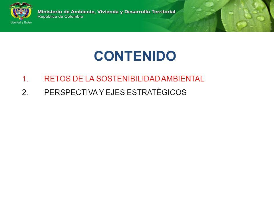 CONTENIDO RETOS DE LA SOSTENIBILIDAD AMBIENTAL