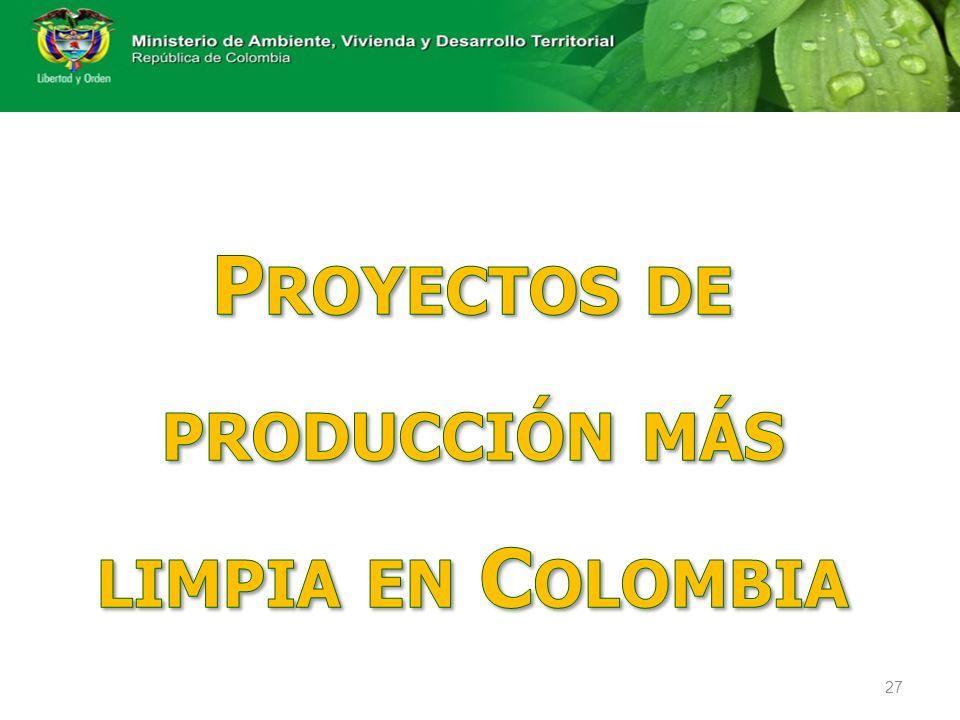 Proyectos de producción más limpia en Colombia
