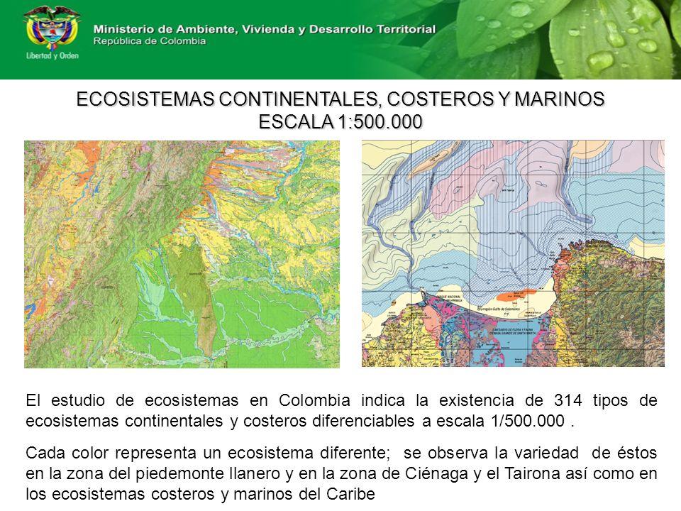 ECOSISTEMAS CONTINENTALES, COSTEROS Y MARINOS ESCALA 1:500.000