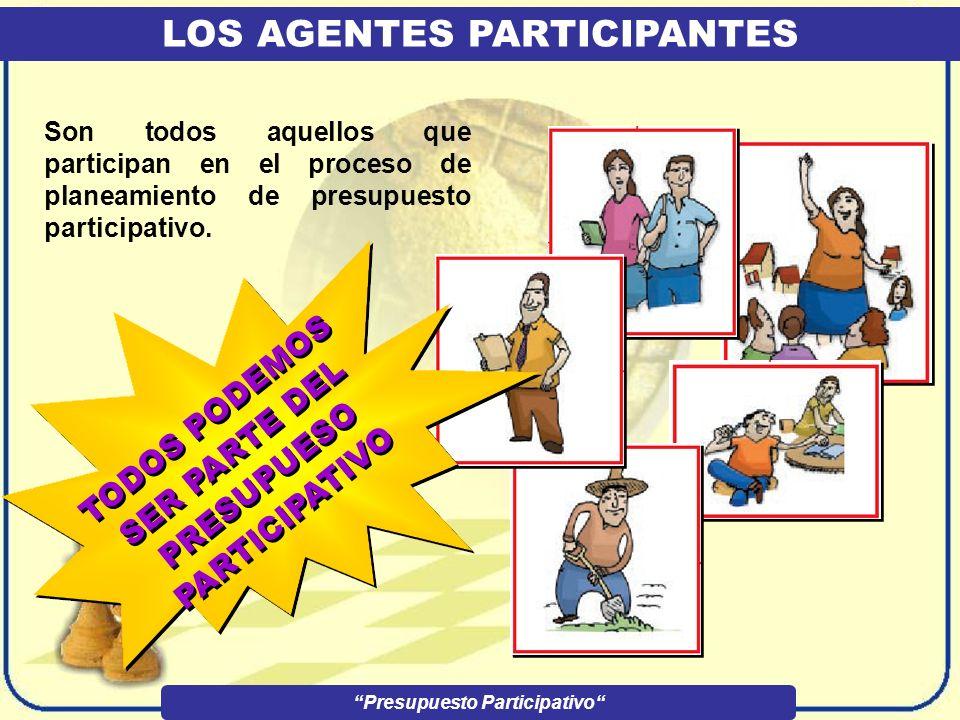 LOS AGENTES PARTICIPANTES