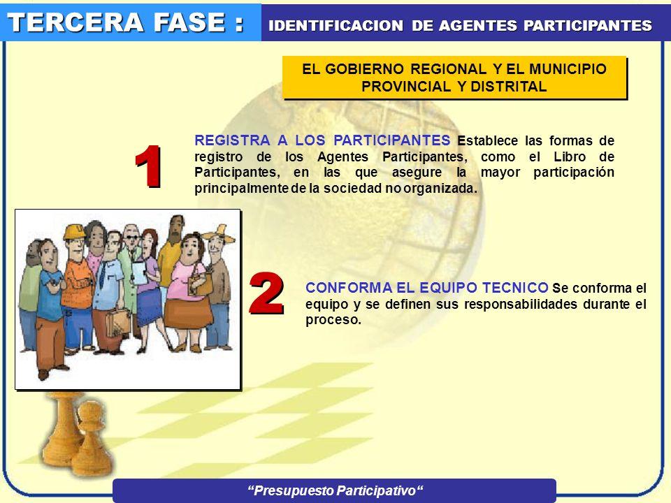 1 2 TERCERA FASE : IDENTIFICACION DE AGENTES PARTICIPANTES