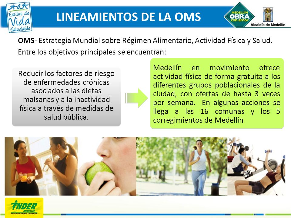 LINEAMIENTOS DE LA OMS OMS- Estrategia Mundial sobre Régimen Alimentario, Actividad Física y Salud.