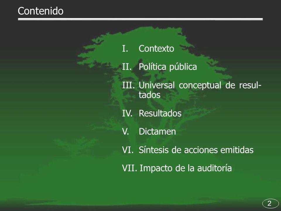 Contenido I. Contexto Política pública