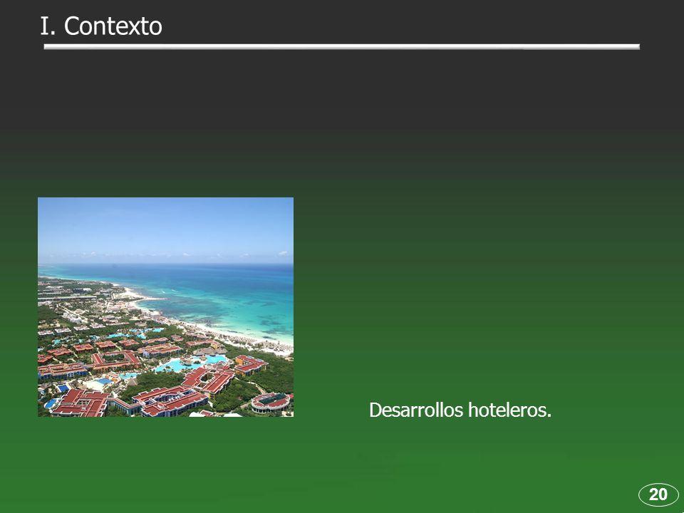 I. Contexto Desarrollos hoteleros. 20