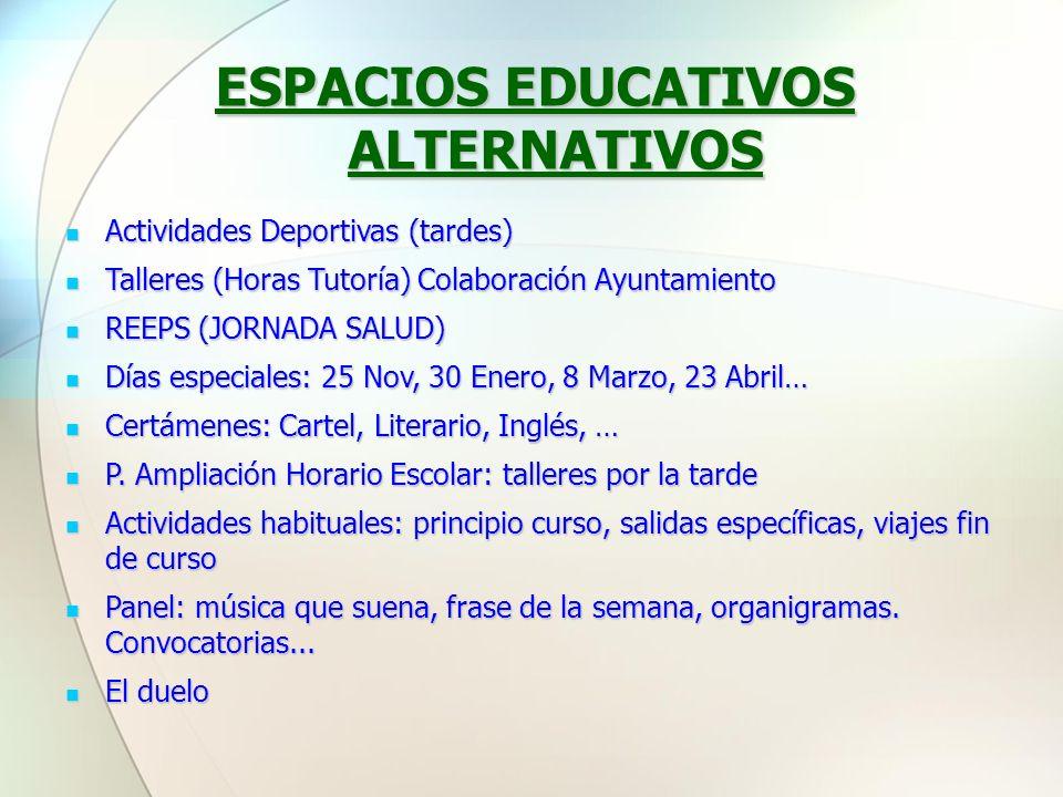 ESPACIOS EDUCATIVOS ALTERNATIVOS