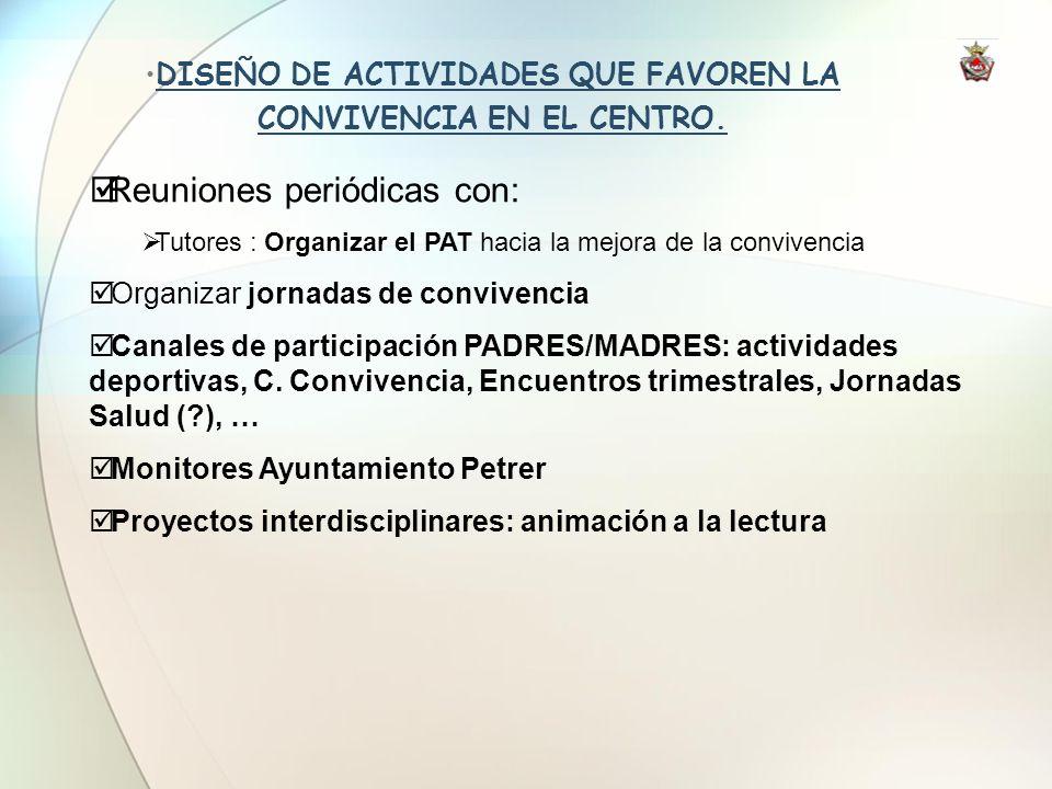 DISEÑO DE ACTIVIDADES QUE FAVOREN LA CONVIVENCIA EN EL CENTRO.