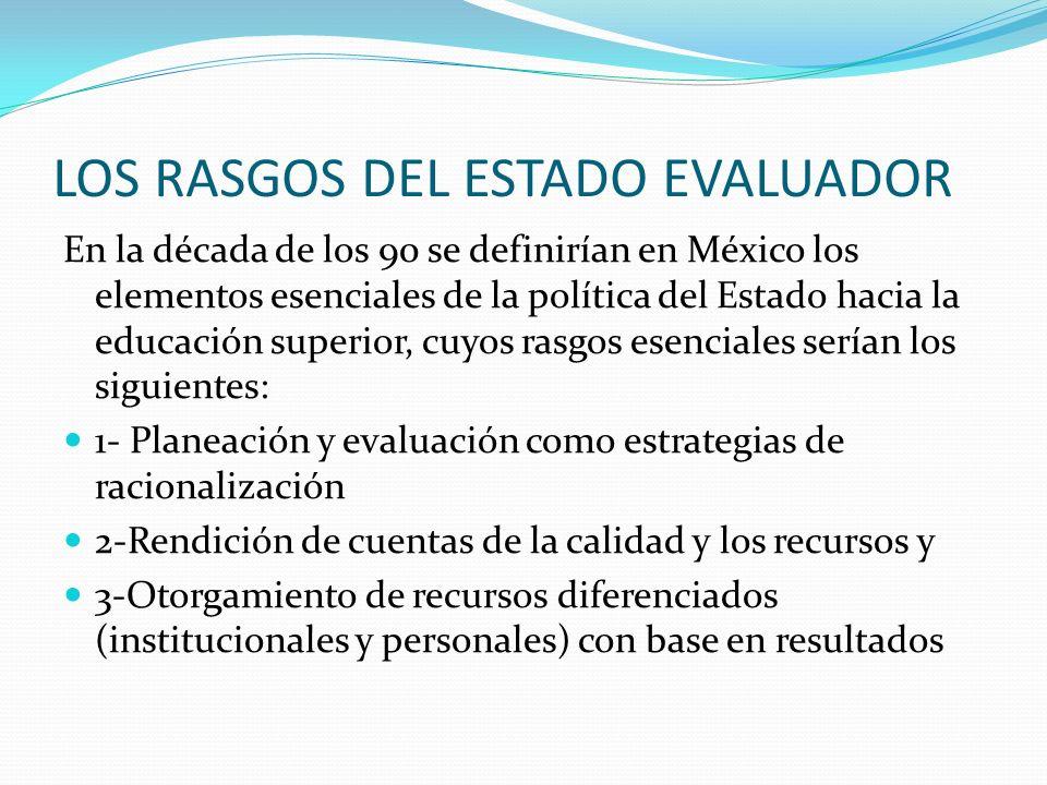 LOS RASGOS DEL ESTADO EVALUADOR