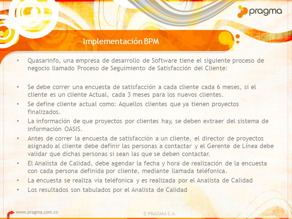 Implementación BPM