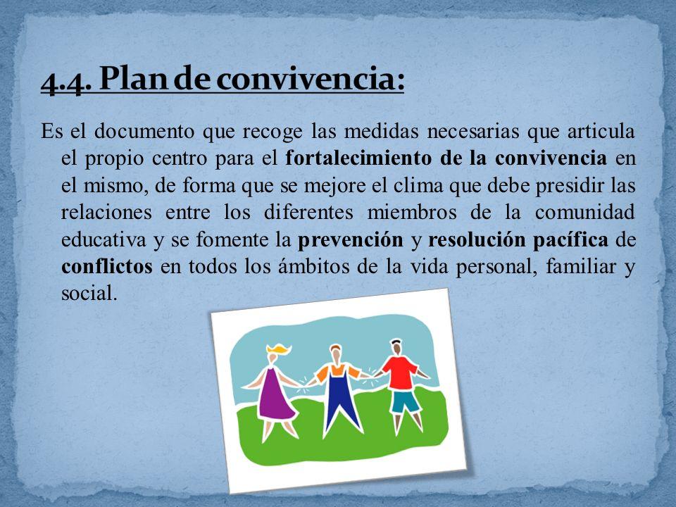 4.4. Plan de convivencia: