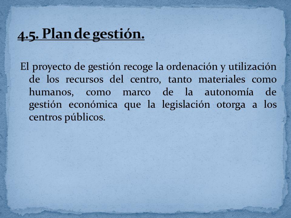4.5. Plan de gestión.