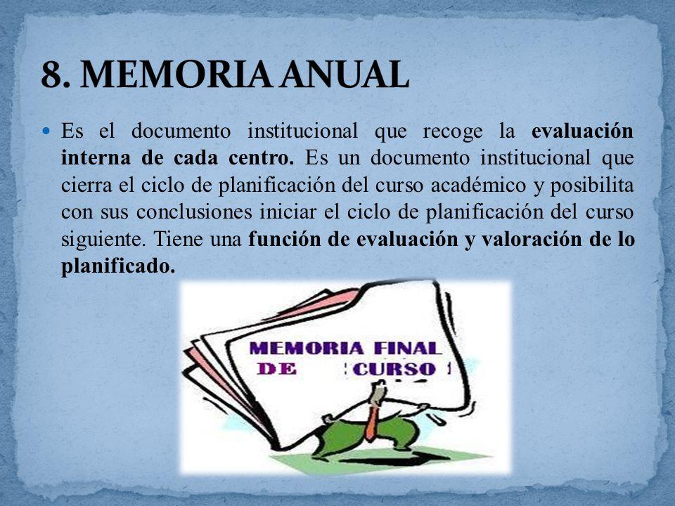 8. MEMORIA ANUAL