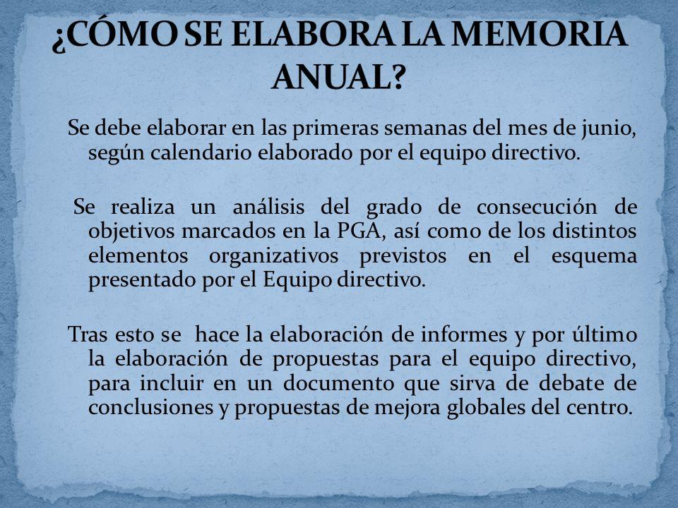 ¿CÓMO SE ELABORA LA MEMORIA ANUAL