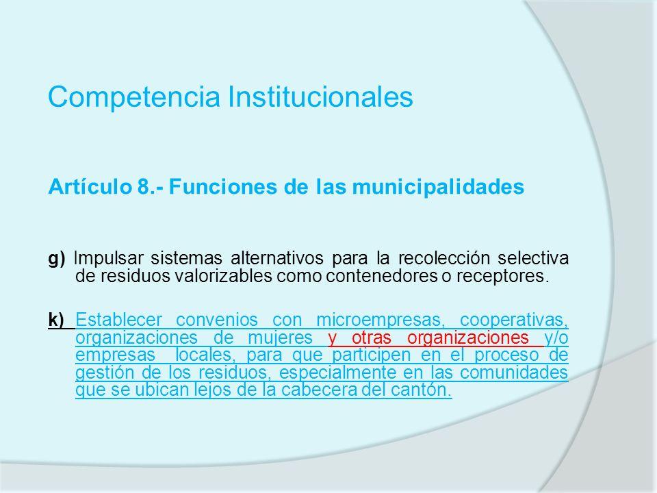 Competencia Institucionales