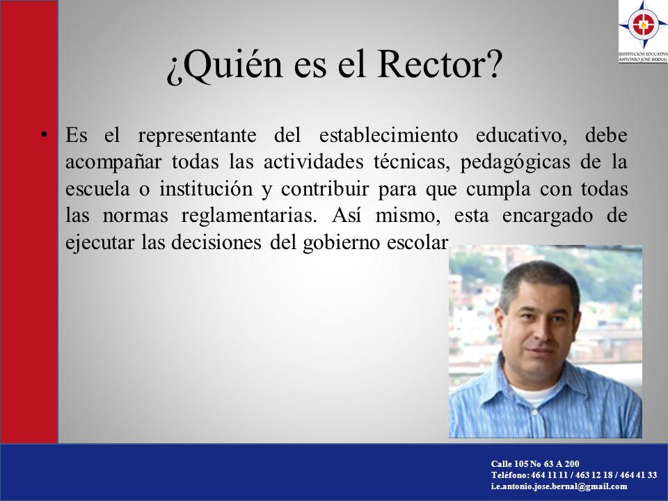 ¿Quién es el Rector