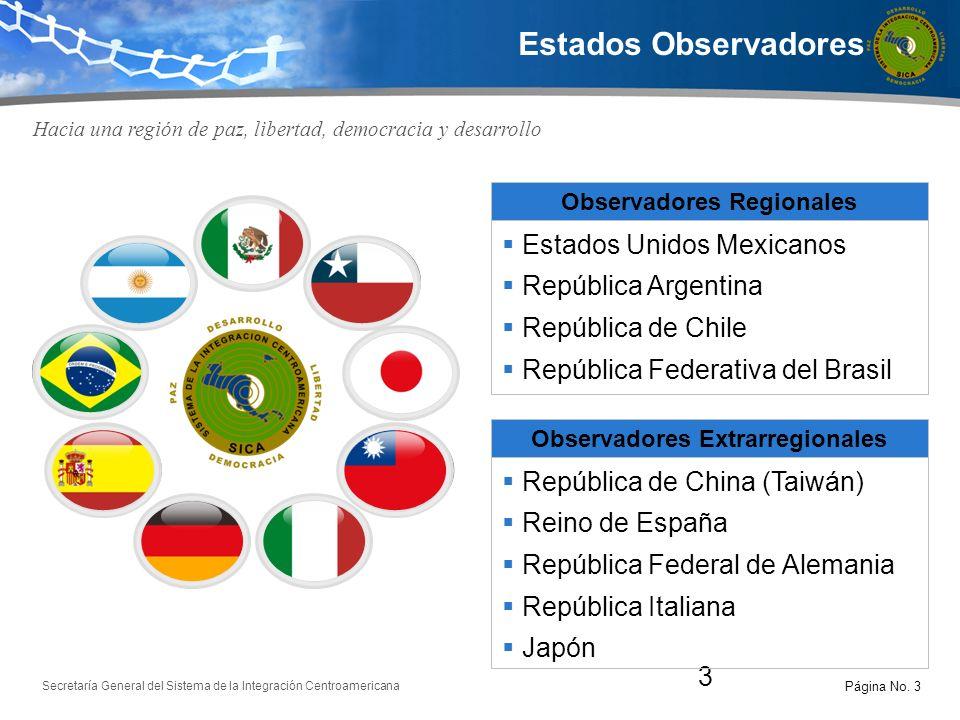 Observadores Regionales Observadores Extrarregionales